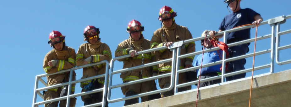 Rappel from Class B Burn Building